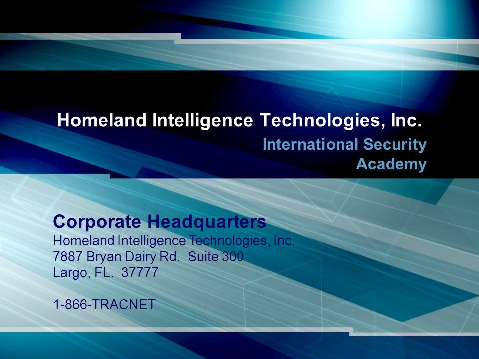 Homeland Intelligence Technologies, Inc.