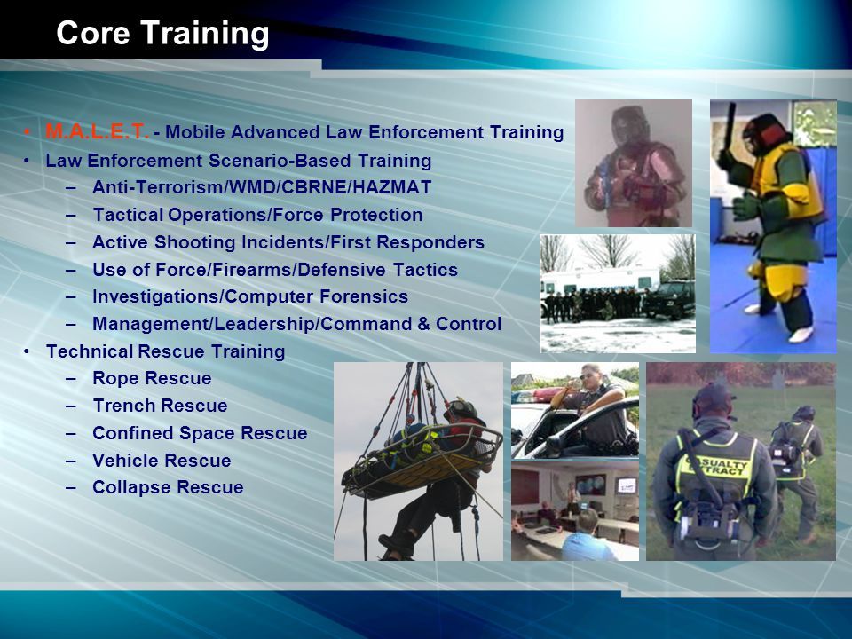 ISA Training Courses Use of Force Oleoresin Capsicum (OC) Spray Edged Weapons Defense Tactical Jaw and Limb Control Defensive Tactics (Basic/Advanced) Baton (Straight/Expandable/Side-handle) Complete Use of Force Spectrum (CUFS) Critical Incident Response/Force Protection Active Shooting Incidents (School Safety) Weapons of Mass Destruction (WMD) Terrorism Awareness/Response Firearms/Shotgun (Basic/Advanced) Patrol Rifle Personal Protection Equipment (PPE) Tactical Shooting Course Precision Rifle/Police Marksman (Sniper) Special Weapons and Tactics (SWAT) Tactical SWAT Rappelling Emergency Response Rappelling/Rope Rescue Spanish For Law Enforcement/Communication Computer Forensics Trench/Confined Space/Collapsed Structure Rescue