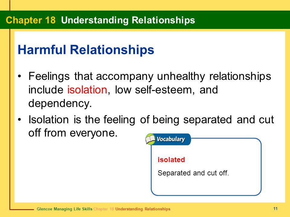 Glencoe Managing Life Skills Chapter 18 Understanding Relationships Chapter 18 Understanding Relationships 11 Harmful Relationships Feelings that acco