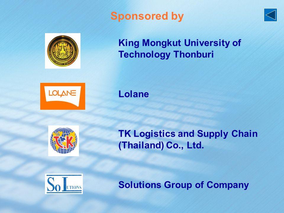 King Mongkut University of Technology Thonburi Lolane TK Logistics and Supply Chain (Thailand) Co., Ltd.