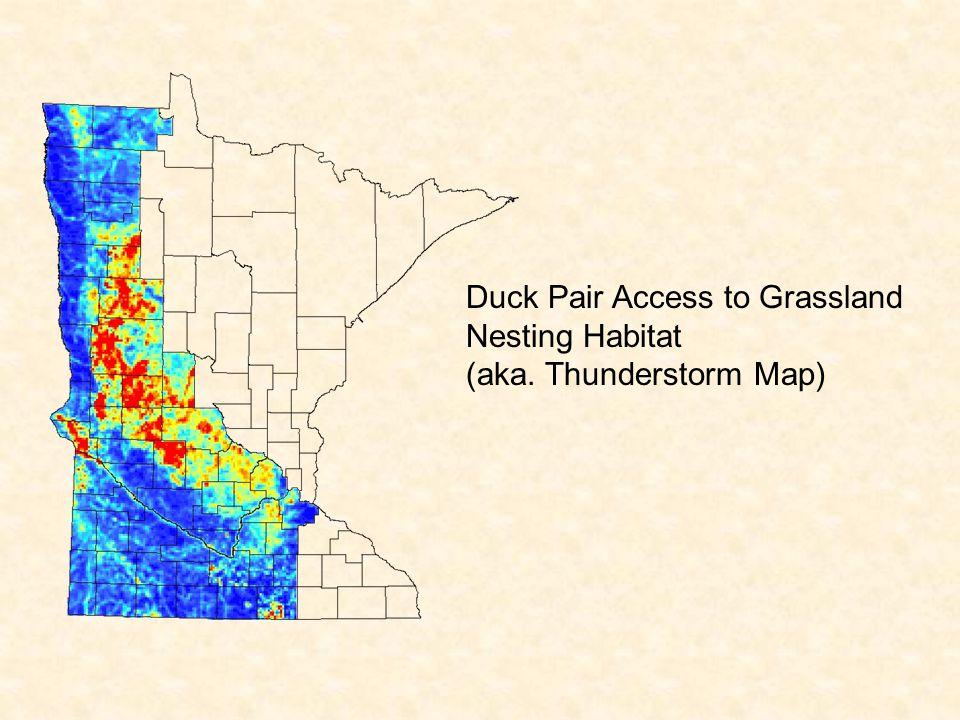 Duck Pair Access to Grassland Nesting Habitat (aka. Thunderstorm Map)