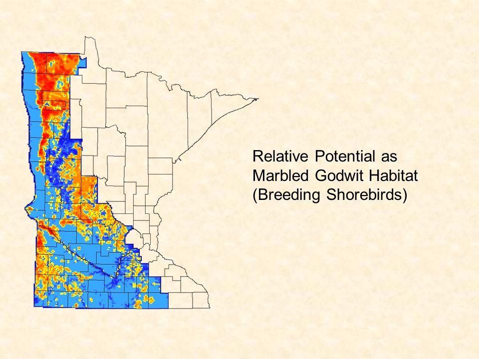 Relative Potential as Marbled Godwit Habitat (Breeding Shorebirds)