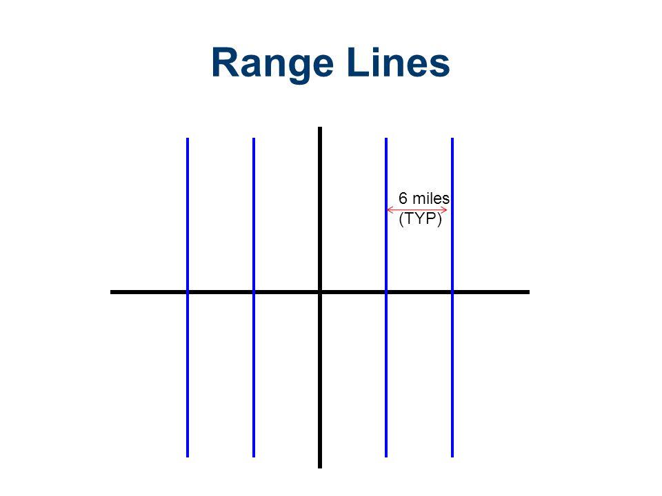 6 miles (TYP) Range Lines