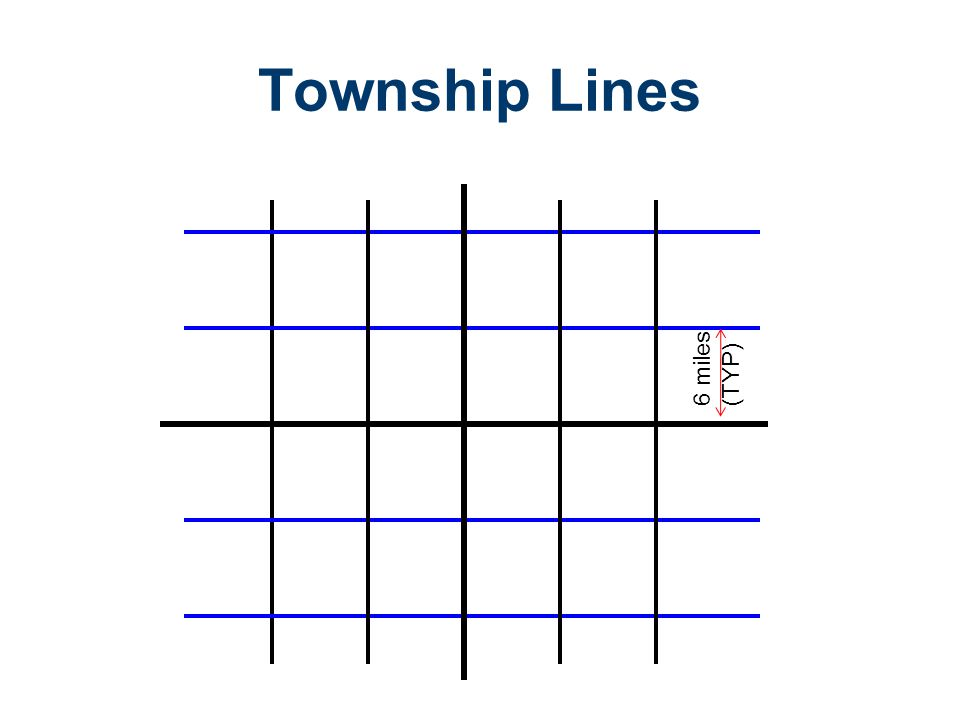 Township Lines 6 miles (TYP)