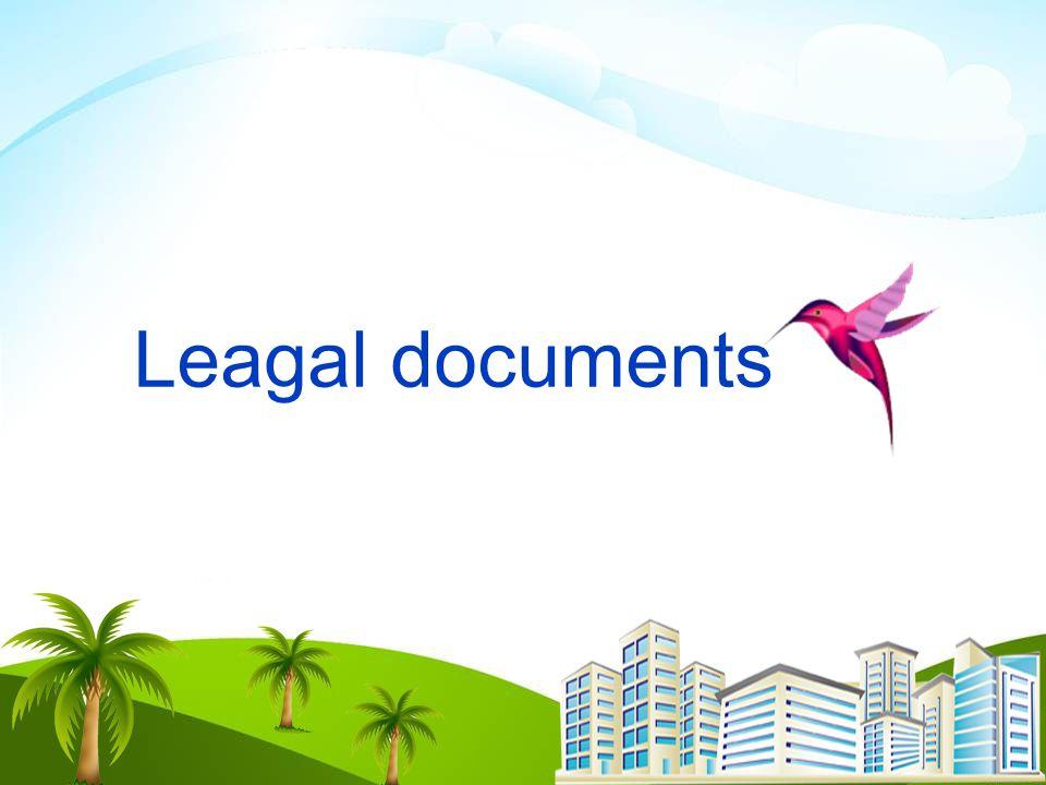 Leagal documents