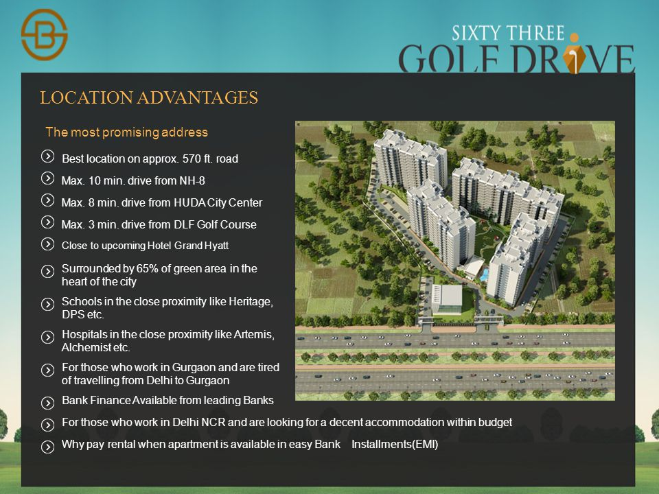 AFFORDABLE HOUSING PROJECT Name:63 Golf Drive Location:Sector-63A Area:5.9 Acres (Appx.) No.