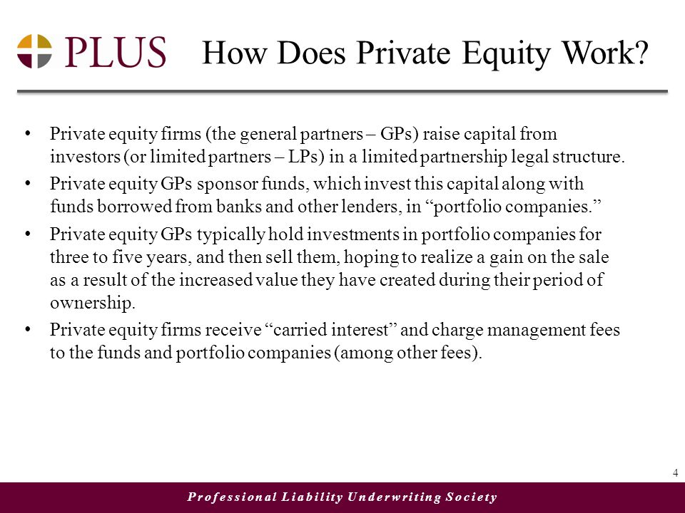 Professional Liability Underwriting Society How Does Private Equity Work.