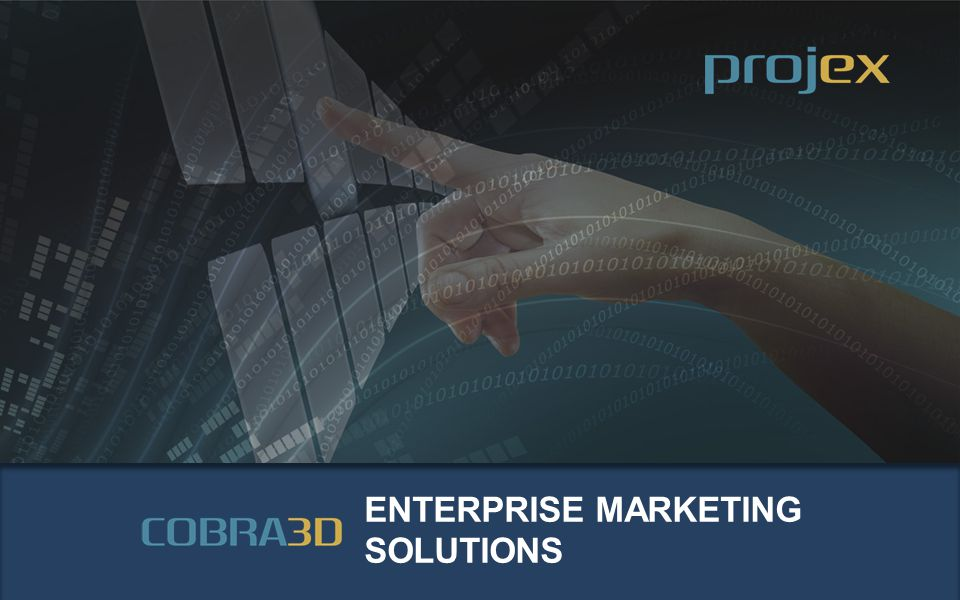 Enterprise Marketing Solutions www.ProjectExecution.com TRAINING TOOLS training.projectexecution.com COBRA 3D ® based learning management system and products TECHNOLOGY PLATFORM technology.projectexecution.com ProjexPress ® based open source, configurable project management platform and products STAFFING SOLUTIONS talent.projectexecution.com Project Execution Network purpose-built social network and staffing platform E-COMMERCE TRANSACTIONS CRM BUSINESS INTELLIGENCE