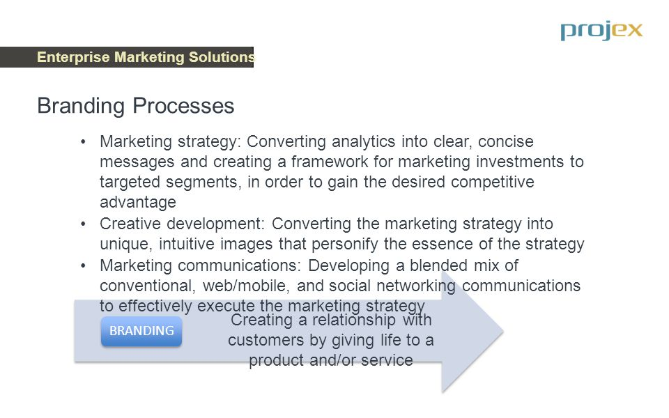 Enterprise Marketing Solutions Technology Execution TECHNOLOGY An Enterprise Marketing Platform Technology is as critical to marketing success today as the analytical and branding processes Advanced marketing software applications have developed at an incredible rate over the past years However, to be effective, proactive, and adaptive, these marketing technology investments must be approached as an integrated set of capabilities