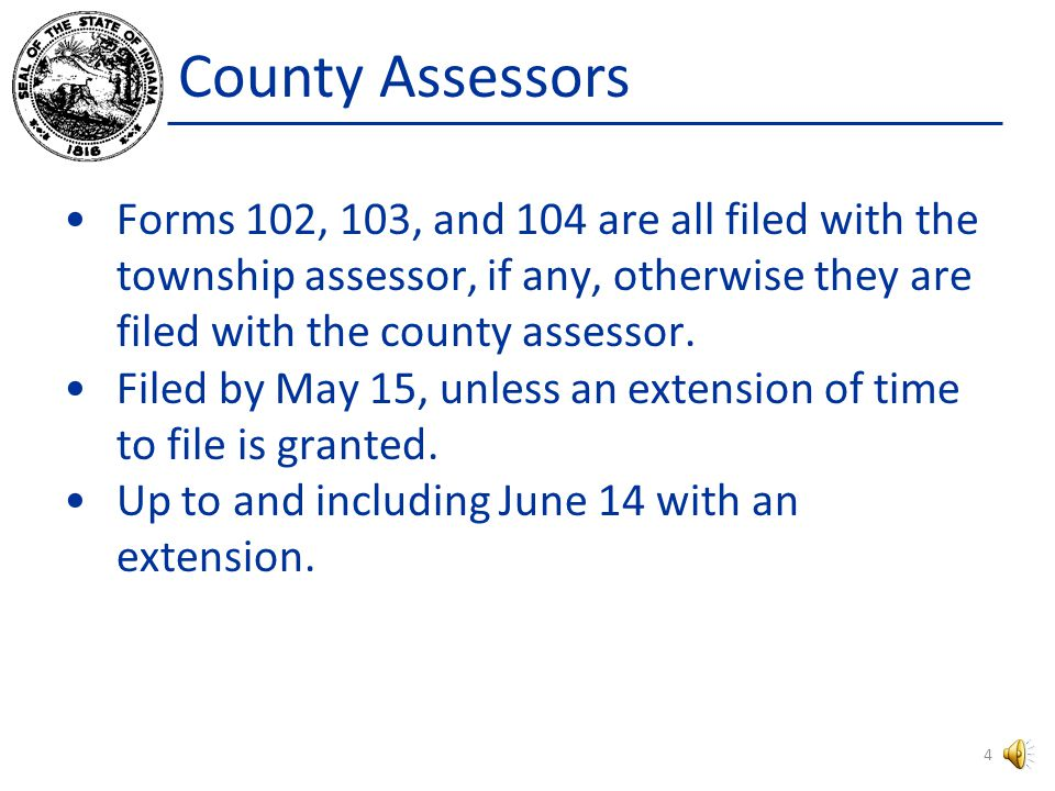 Assessor Duties Supply Forms Verify Accuracy Review Returns Notify Taxpayer of Changes in Assessment Omitted and Undervalued Assessments Filing Extens