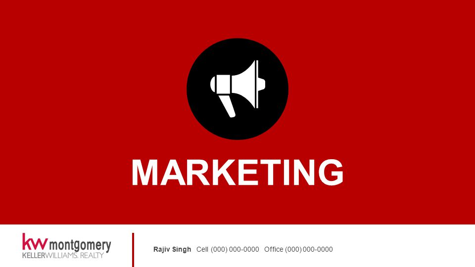Rajiv Singh Cell (000) 000-0000 Office (000) 000-0000 MARKETING