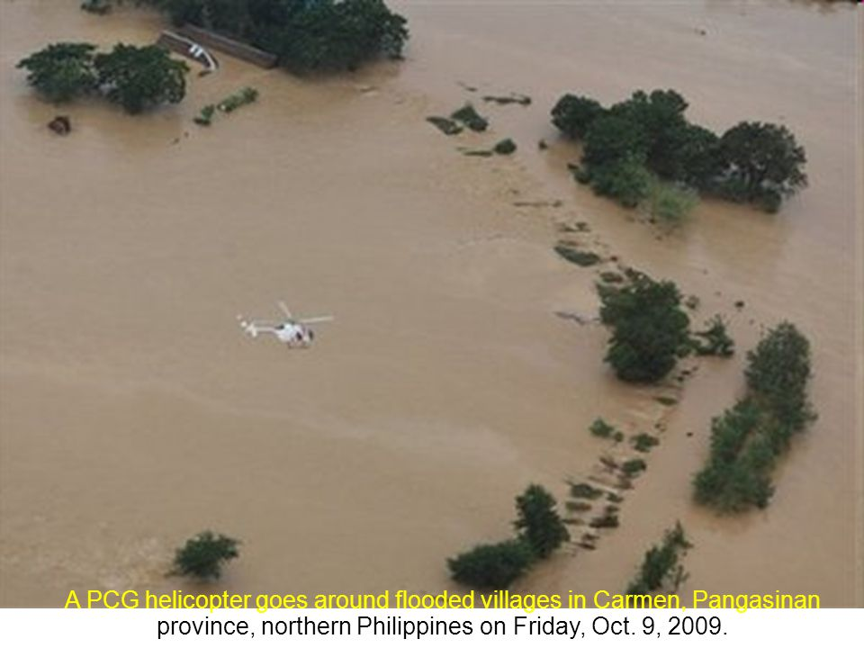 TYPHOON PEPENG OCTOBER 9, 2009 Powerpoint by Emerito All Photos on slides show only portions of the flooded areas in the Philippines.