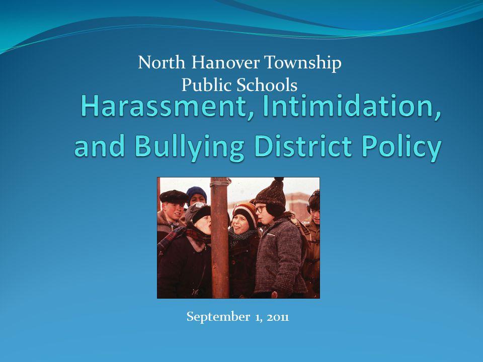 September 1, 2011 North Hanover Township Public Schools