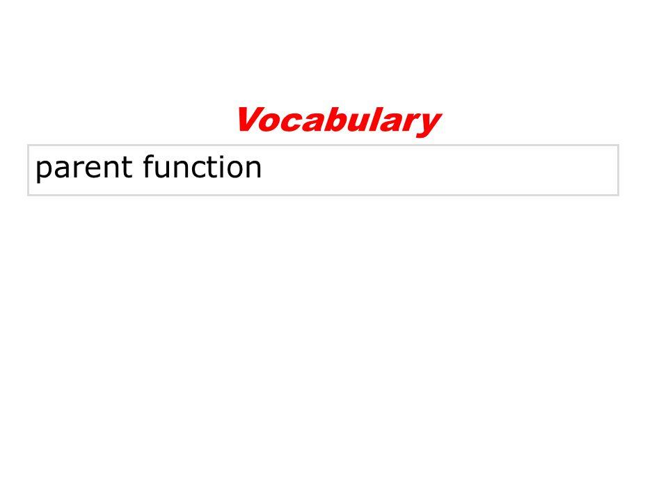 parent function Vocabulary