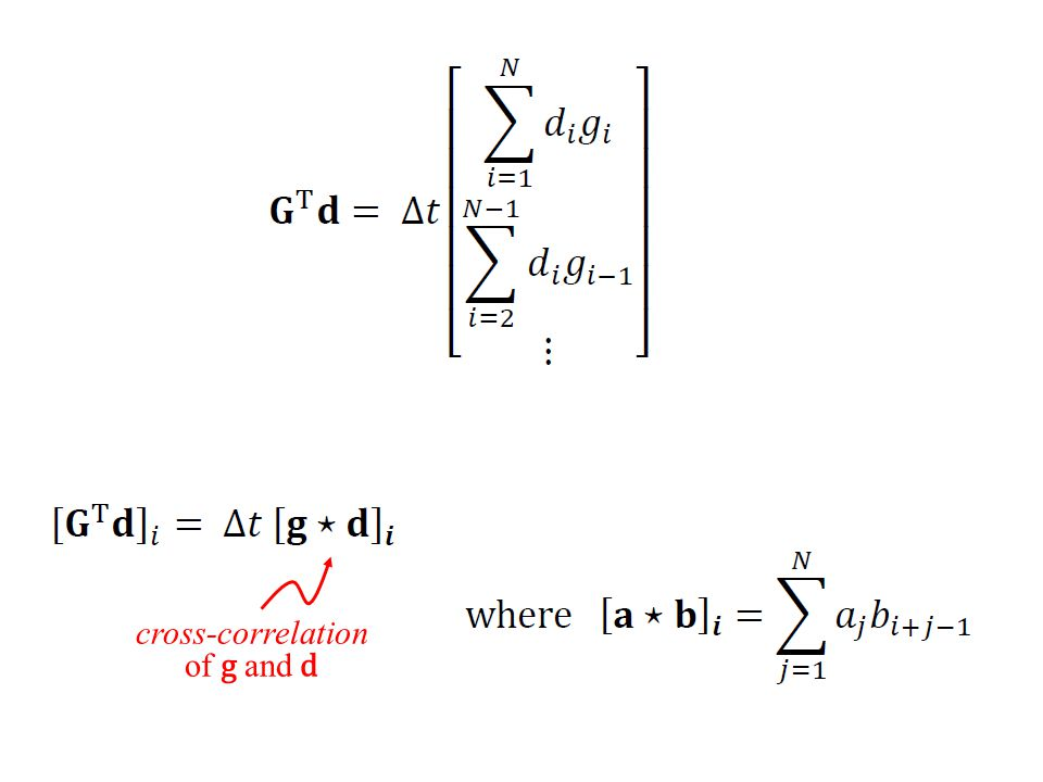 cross-correlation of g and d