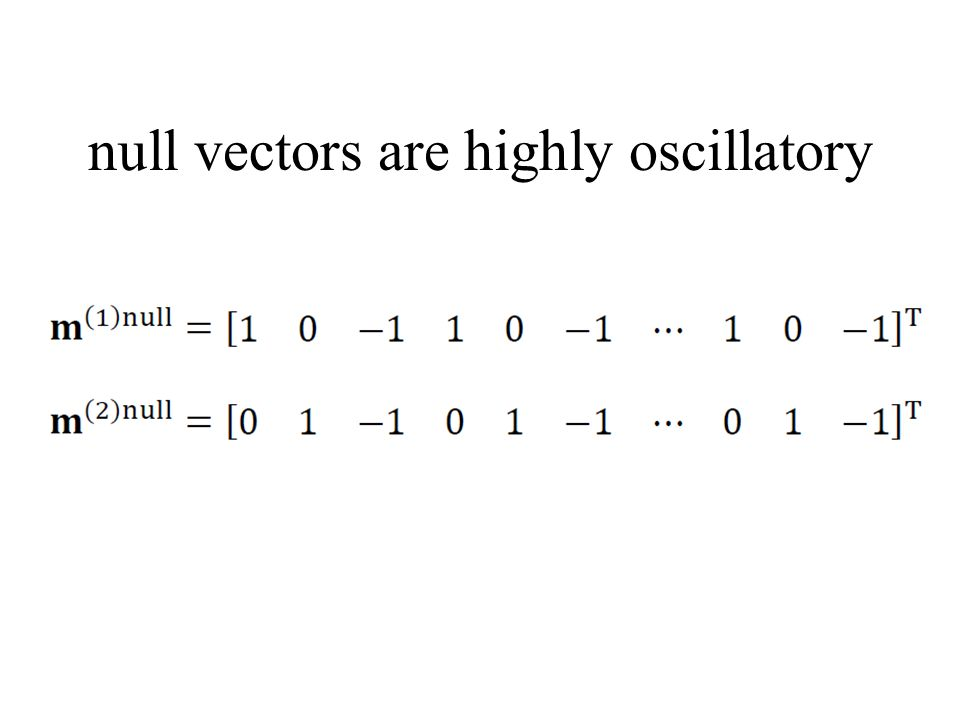 null vectors are highly oscillatory