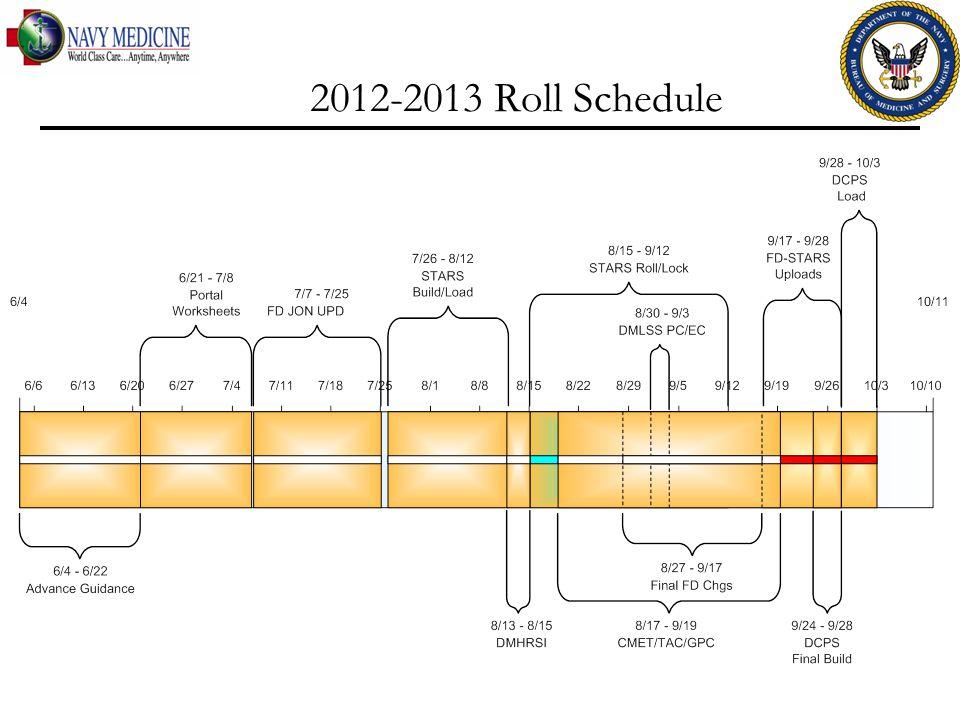 2012-2013 Roll Schedule