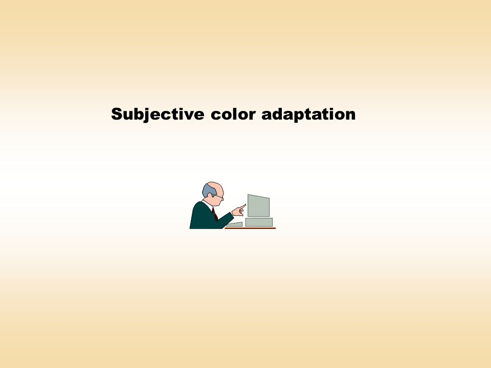 Subjective color adaptation