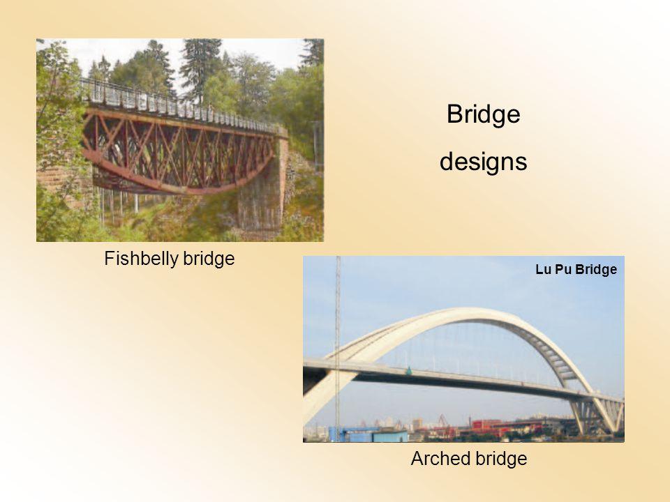 Arched bridge Fishbelly bridge Bridge designs Lu Pu Bridge