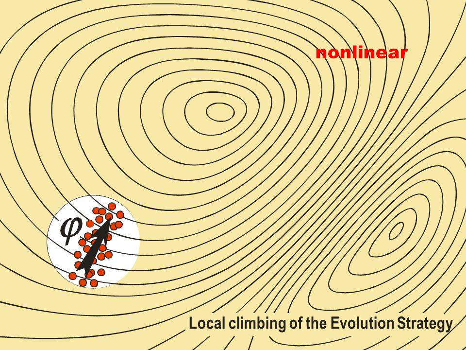 Local climbing of the Evolution Strategy nonlinear