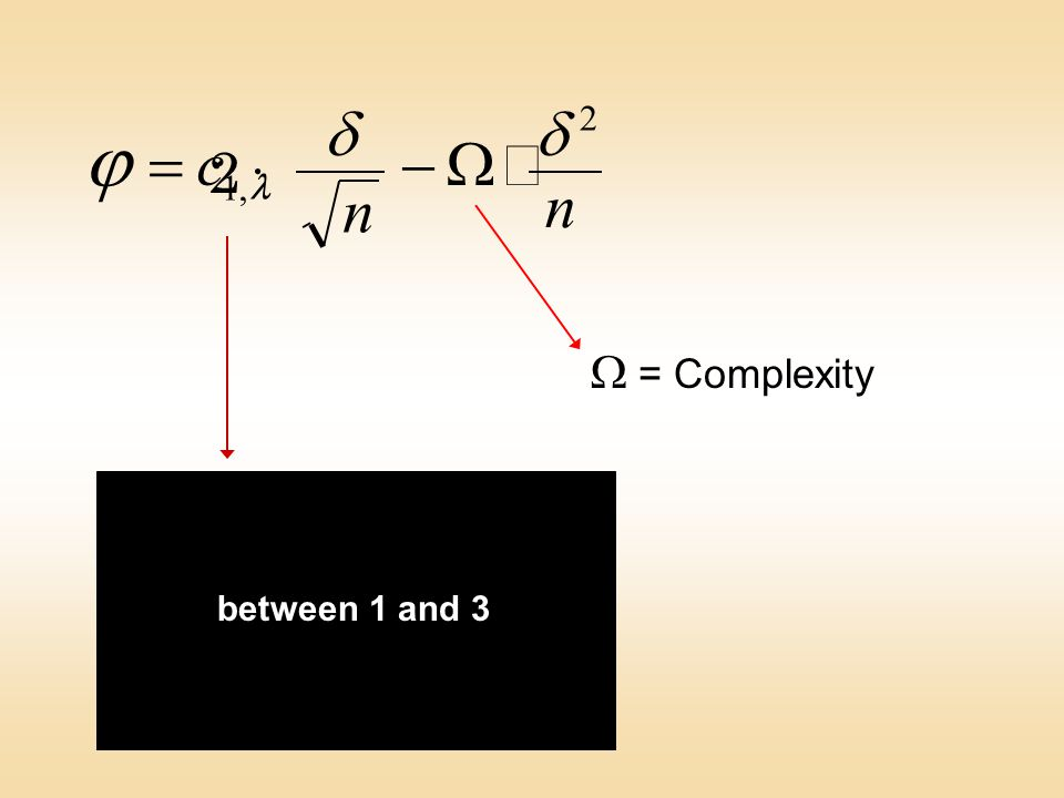 Table of progress coefficients between 1 and 3 n n 2  c,1   2·2·  = Complexity
