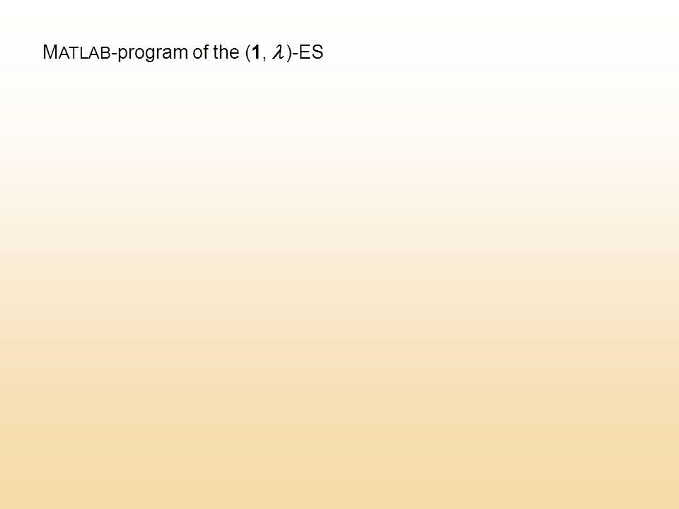 M ATLAB -program of the (1,  )-ES