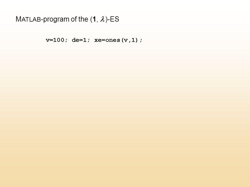 v=100; de=1; xe=ones(v,1);