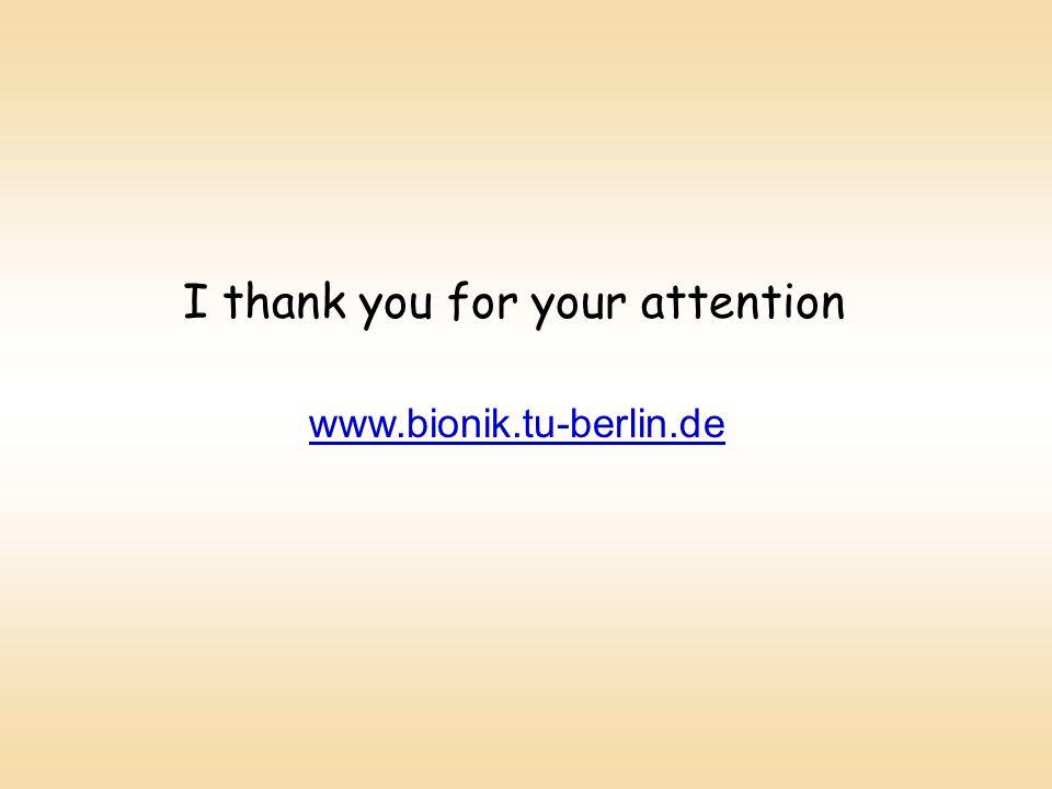 I thank you for your attention www.bionik.tu-berlin.de