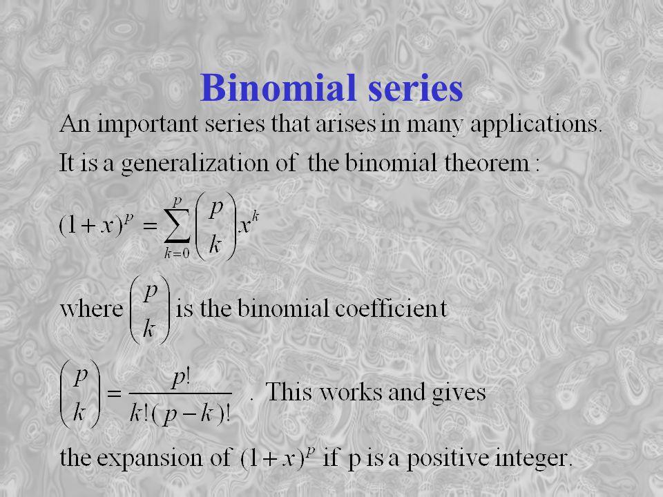 Binomial series