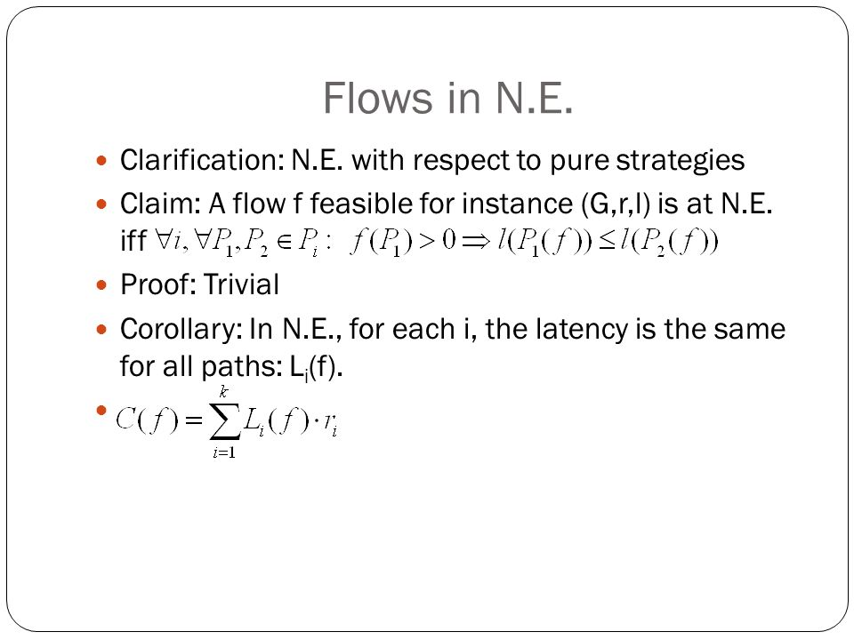 Flows in N.E. Clarification: N.E.