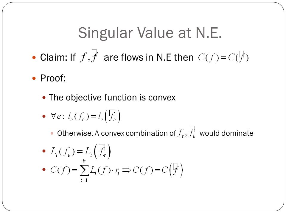 Singular Value at N.E.