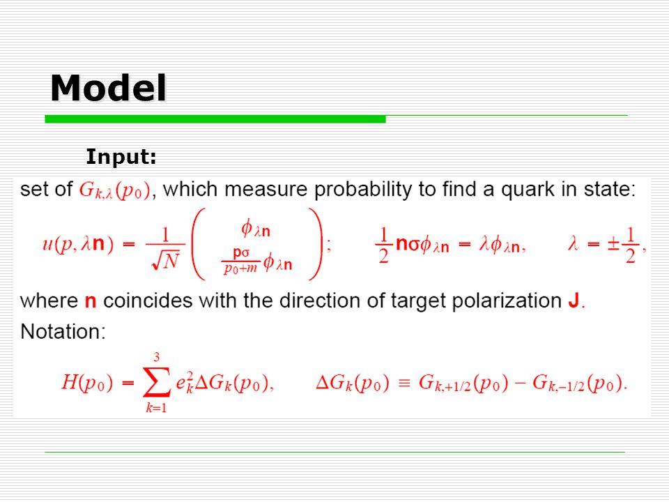 Model Input: