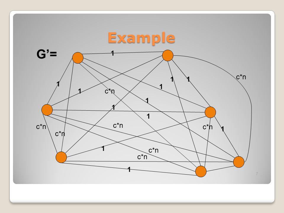 Example 1 1 1 1 1 1 1 1 1 1 1 1 c*n 7 G'=