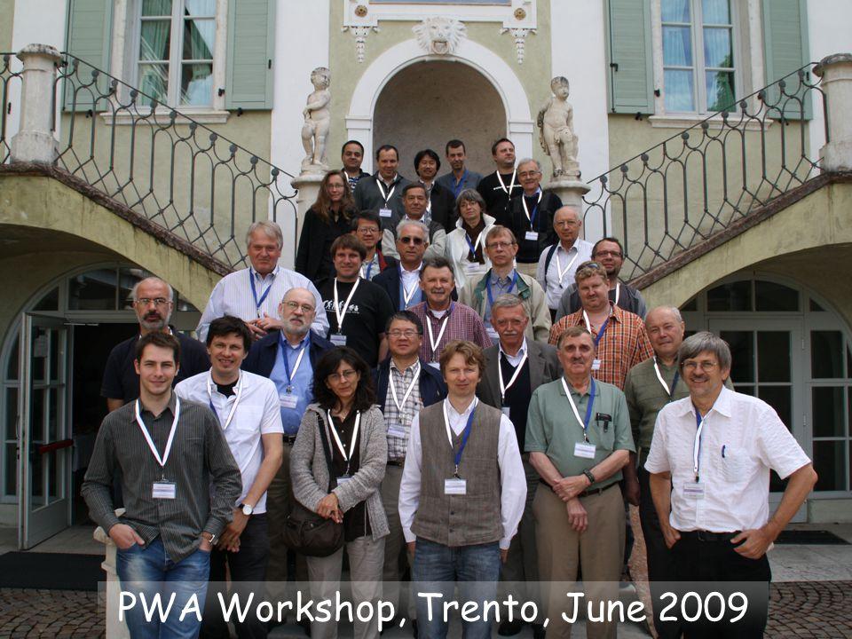 PWA Workshop, Trento, June 2009
