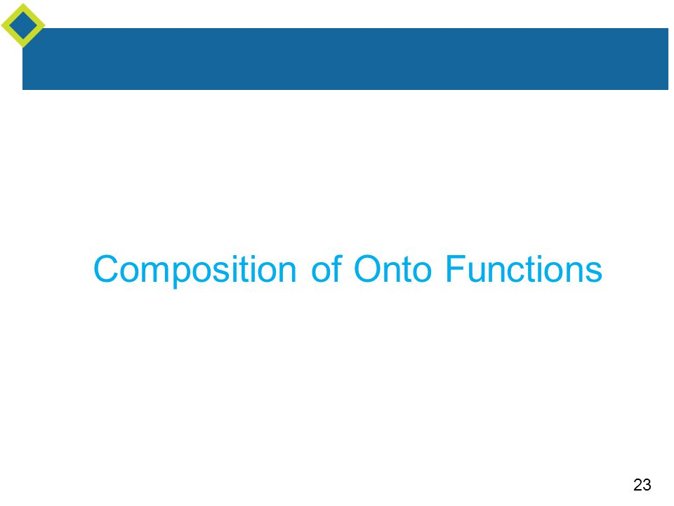 23 Composition of Onto Functions