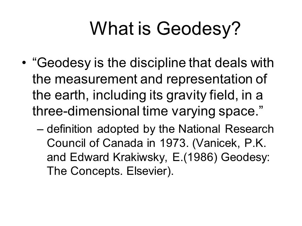 What is Geodesy.