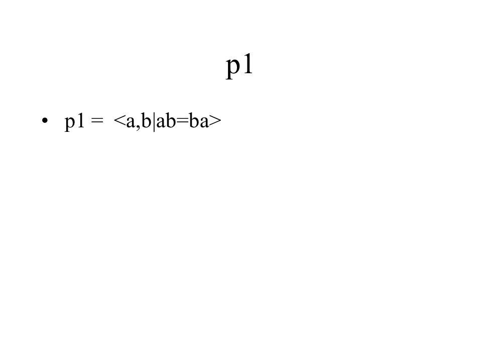p1 p1 =