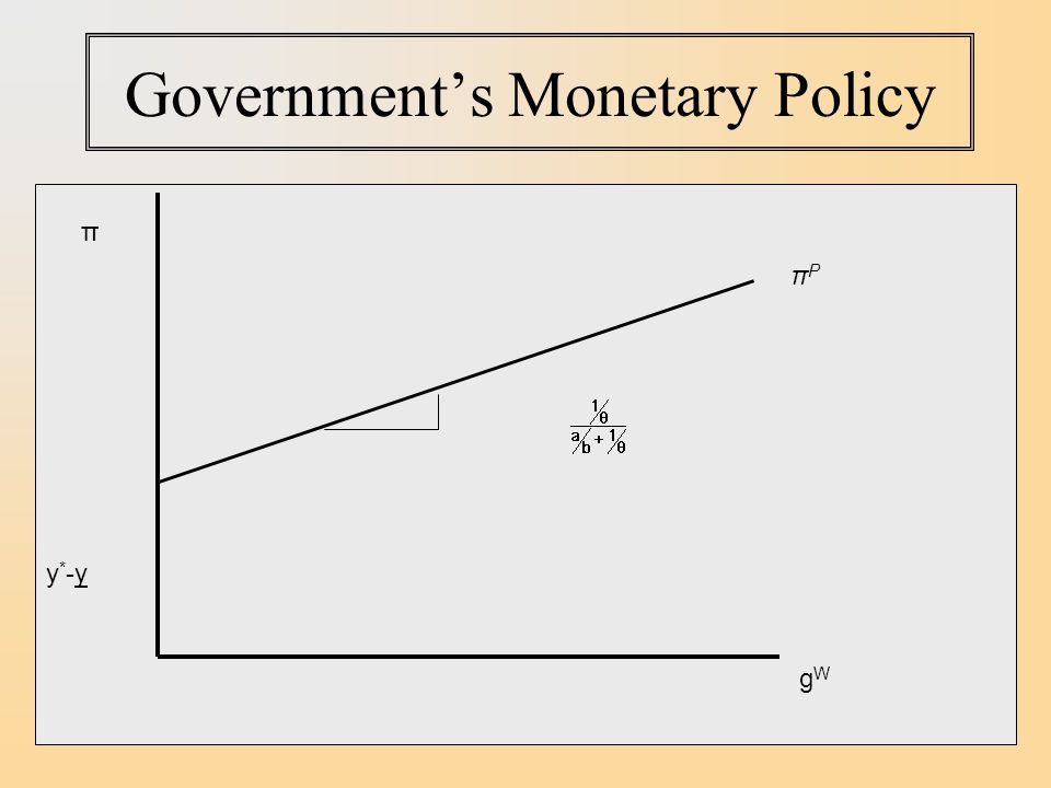 Government's Monetary Policy y*-yy*-y π gWgW πPπP