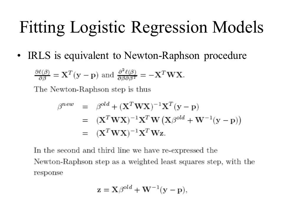 IRLS is equivalent to Newton-Raphson procedure