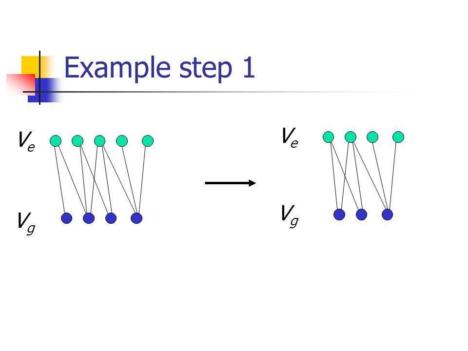 Example step 1 VgVg VeVe VeVe VgVg