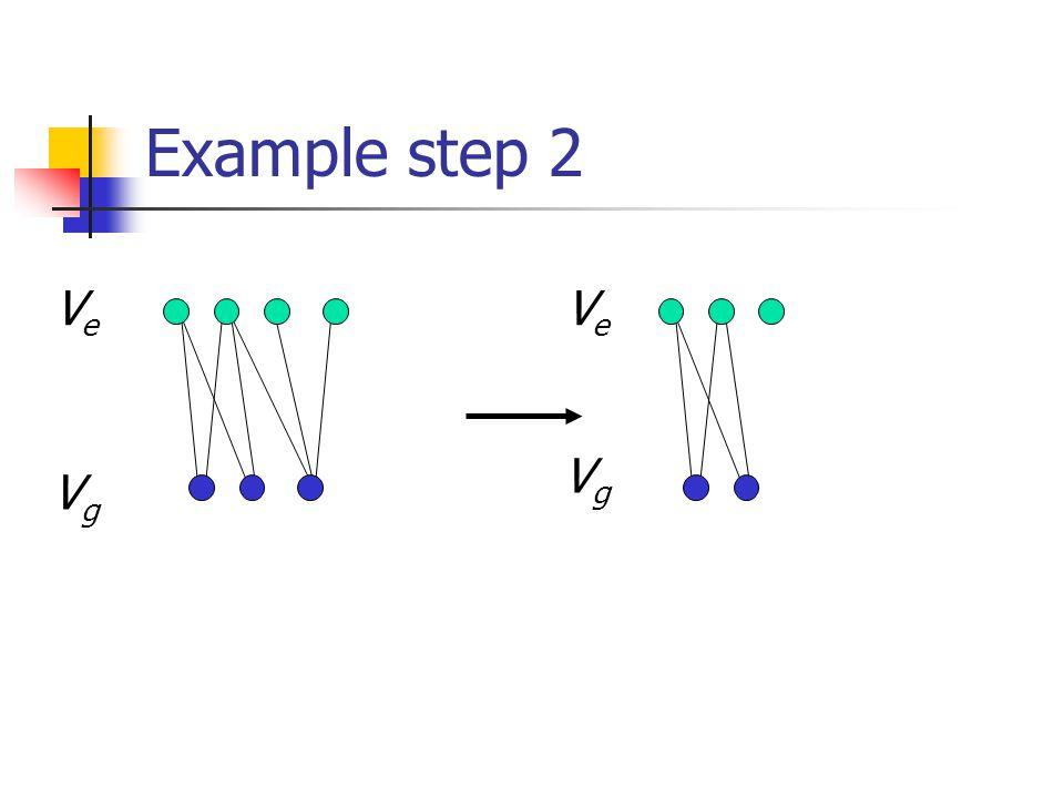 Example step 2 VgVg VgVg VeVe VeVe