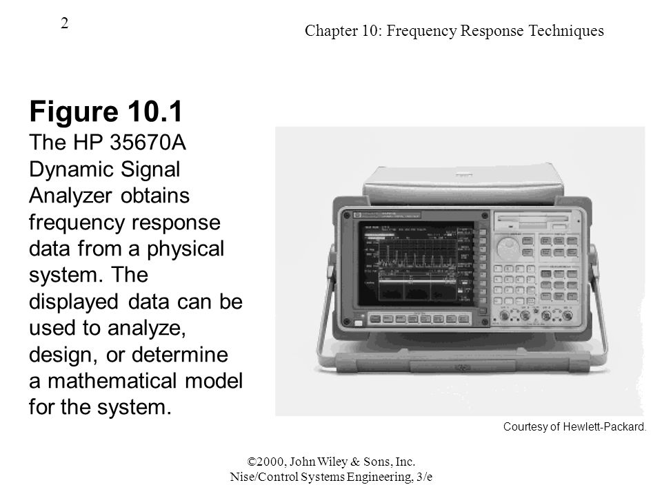 Chapter 10: Frequency Response Techniques 2 ©2000, John Wiley & Sons, Inc.