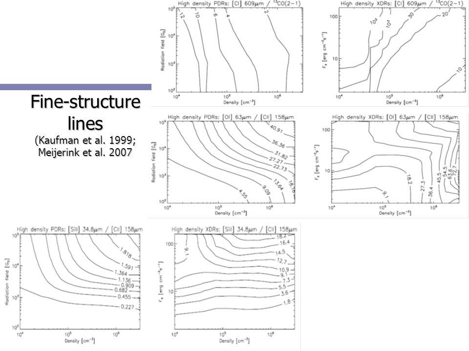 Fine-structure lines (Kaufman et al. 1999; Meijerink et al. 2007