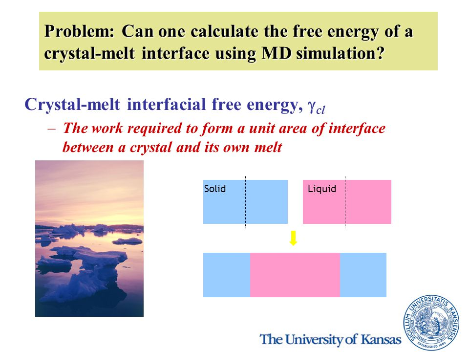 Problem: Can one calculate the free energy of a crystal-melt interface using MD simulation.