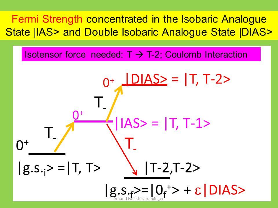 |DIAS> = |T, T-2> |IAS> = |T, T-1> 0 + |g.s. i > =|T, T> |T-2,T-2> |g.s.