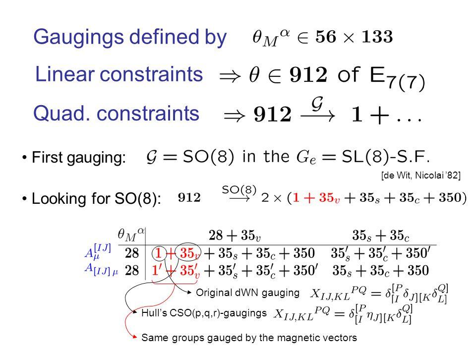 Linear constraints Quad.