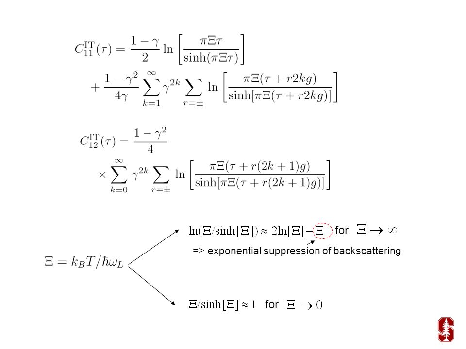 for => exponential suppression of backscattering for