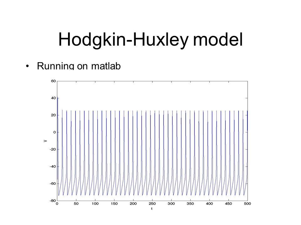Hodgkin-Huxley model Running on matlab