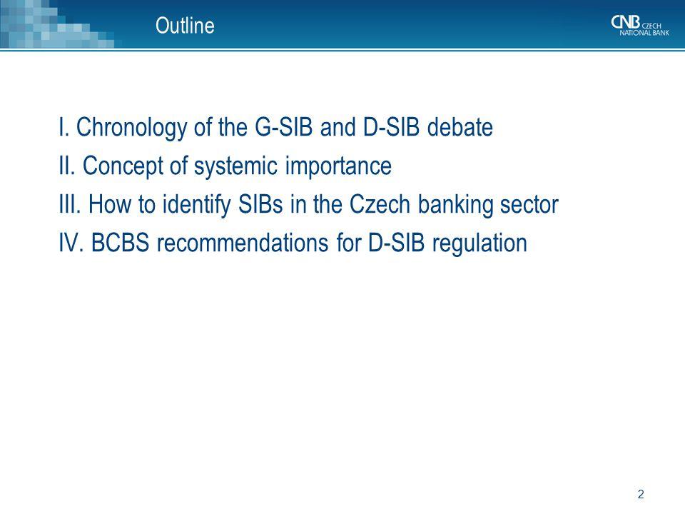 33 I. The G-SIB and D-SIB debate thus far...