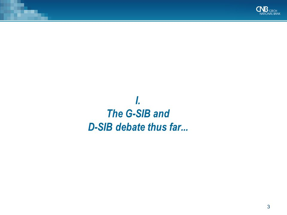 44 Discussions whether and how implement D-SIB surcharge in CRD IV.